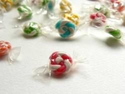 1 bonbon emballé - Rose- miniature  - 1