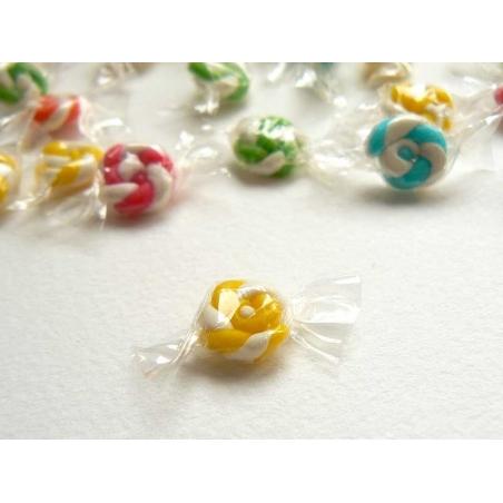 1 bonbon emballé - Jaune- miniature  - 1