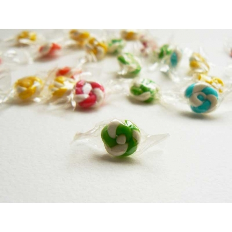 1 bonbon emballé - Vert- miniature