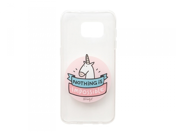 """Samsung S7 Edge mobile case - """"Nothing is impossible"""""""