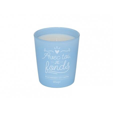 """Acheter Bougie """"Avec toi je fonds"""" - parfum blackberry ice cream - 16,90€ en ligne sur La Petite Epicerie - 100% Loisirs cré..."""
