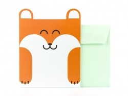 Carte en frome d'animal  - renard