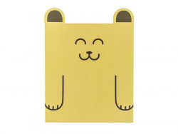 Animal-shaped card - bear