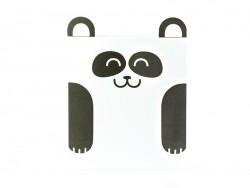 Carte en forme d'animal  - panda
