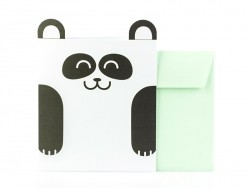 Animal-shaped card - panda