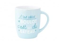 """Mug """" A tes cotés, le boulot, c'est du gâteau"""" Mr Wonderful  - 1"""