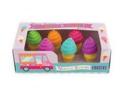 6 ice-cream erasers