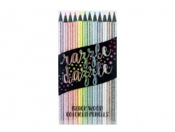 Glittering coloured pencils
