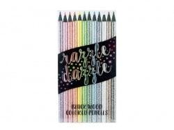 Crayons de couleurs pailletés