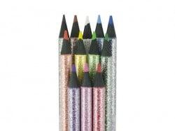 Glittering coloured pencils
