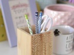 Vintage style pencil - lime green