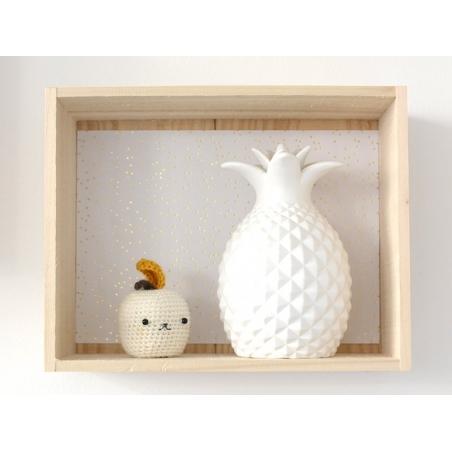 Veilleuse ananas en porcelaine