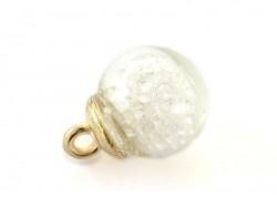 Pendentif fiole bulle de petites pierres
