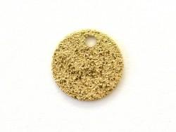 Pampille ronde brillante dorée