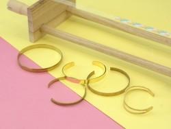 Bracelet manchette dorée percée - 6 mm