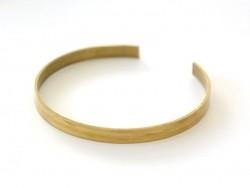 Bracelet manchette en laiton percée - 6 mm