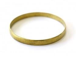 Bracelet jonc bombé en laiton - 7 mm
