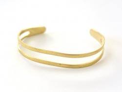 Double-row brass bangle - child size