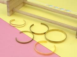 Bracelet jonc double en laiton - taille enfant