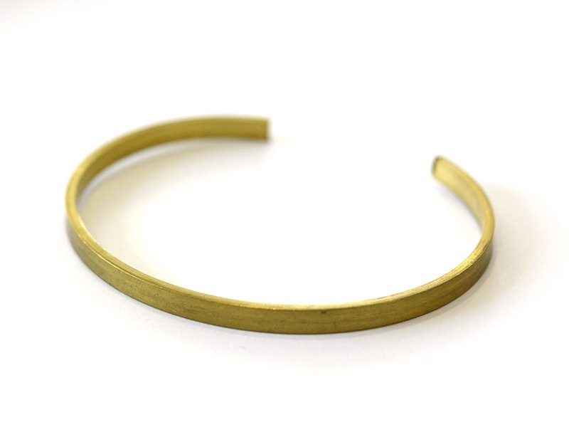 Brass bangle - 3.5 cm