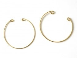 Brass bangle with loops - 1.7 mm