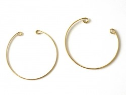 Brass bangle with loops - 2 mm