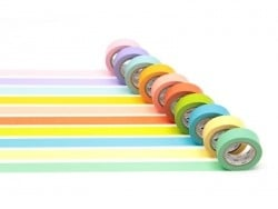 Lot de 10 masking tapes - couleurs claires Masking Tape - 1