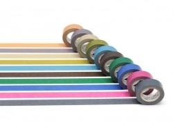 Lot de 10 masking tapes - couleurs foncées