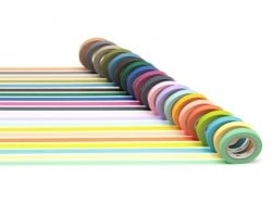 Lot de 20 masking tapes slim - multicolore