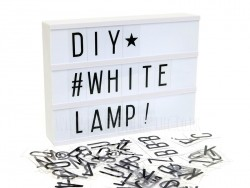 Acheter Lightbox A4 blanc - boîte lumineuse + lettres - 24,49€ en ligne sur La Petite Epicerie - Loisirs créatifs