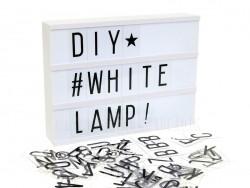 acheter lightbox a4 contour blanc bo te lumineuse lettres en ligne. Black Bedroom Furniture Sets. Home Design Ideas