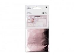 Feuilles transferts effet métallisé - rosegold Rico Design - 1