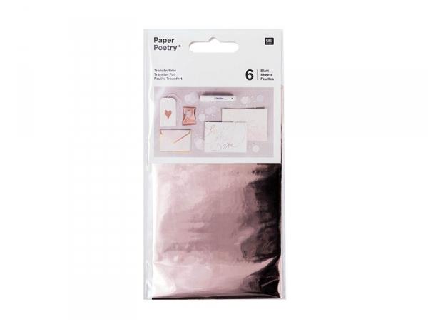 Acheter Feuilles transferts effet métallisé - rosegold - 4,10€ en ligne sur La Petite Epicerie - Loisirs créatifs