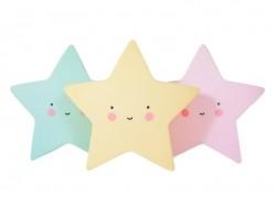 Cute star night light - pink