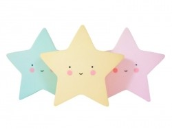 Veilleuse étoile kawaii - jaune
