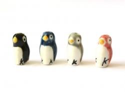 Perle céramique pingouin