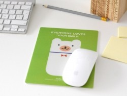 "Mousepad - ""Everyone loves your smile"" - grün"