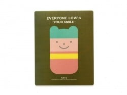 "Tapis de souris ""Everyone loves your smile"" - kaki  - 1"