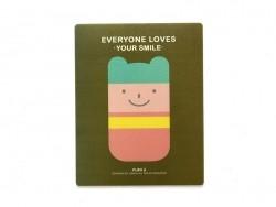 "Tapis de souris ""Everyone loves your smile"" - kaki"