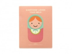 "Tapis de souris ""Everyone loves your smile"" - rose  - 1"