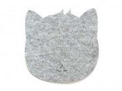 Tapis de souris feutrine - chat  - 1