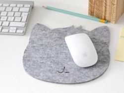 Tapis de souris feutrine - chat