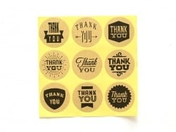 9 stickers autocollants - thank you  - 1