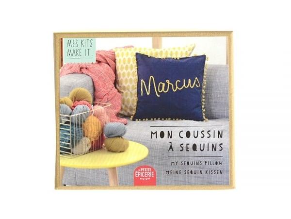 Acheter Kit MKMI - Mon coussin à sequins - DIY - 16,99€ en ligne sur La Petite Epicerie - Loisirs créatifs