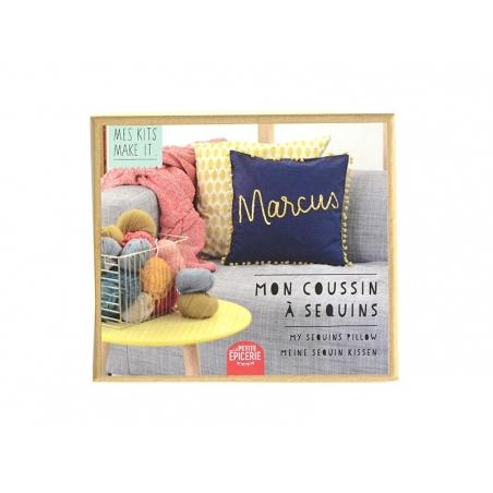 Mes kits make it - My sequined cushion - DIY