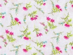 Tissus imprimé fleurs des champs roses