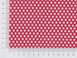 Fabric tape - red with white flowers (retro style)