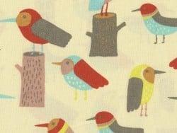 Tissu imprimé - oiseaux rétro Rico Design - 1