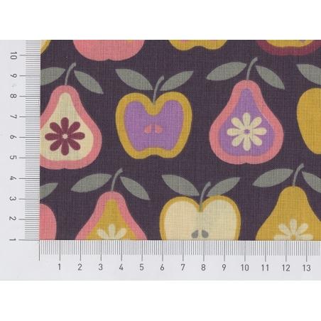 Tissu imprimé - pommes et poires rétro Rico Design - 2