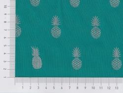 "Stoff aus Baumwollmischgewebe - ""A nana's Fabric"" von Aime comme Marie - Smaragd"